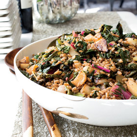 mkgalleryamp; Wine: Farro Salad with Turnips and Greens