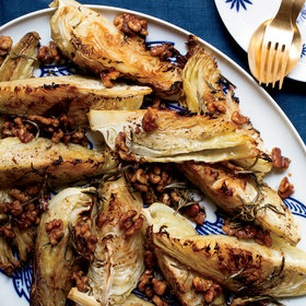 Food & Wine: Roasted Cabbage with Warm Walnut-Rosemary Dressing