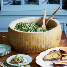 Food & Wine: Shredded Caesar Salad on Toasts