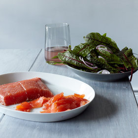 Food & Wine: Mezcal-Cured Salmon with Sorrel Salad