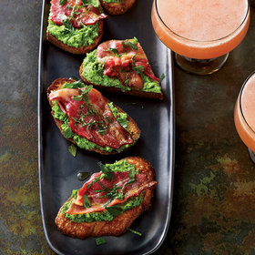 Food & Wine: Minty Peas & Bacon on Toast