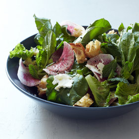 Food & Wine: Romaine & Arugula Salad with Radishes, Mint & Feta