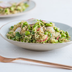 Food & Wine: Garlic, Edamame and Quinoa Salad