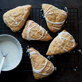 Food & Wine: Glazed Lemon-Ginger Scones