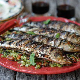 Food & Wine: Grilled Sardines with Mint and Almonds