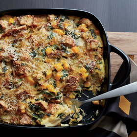 Food & Wine: Butternut Squash and Kale Strata with Multigrain Bread
