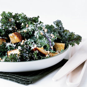 Food & Wine: Kale Caesar with Rye Croutons and Farro