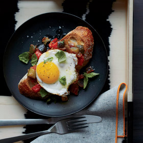 Food & Wine: Ratatouille Toasts with Fried Eggs