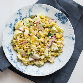 Food & Wine: Roasted Corn and Egg Salad