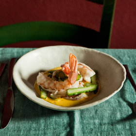 Food & Wine: Ale-Poached Shrimp with Saffron Sauce