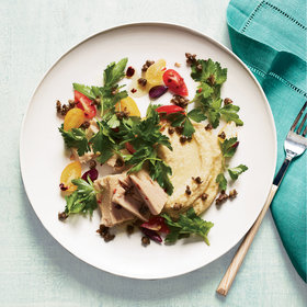 Food & Wine: Tuna Salad with Chickpea Puree