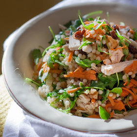 Food & Wine: Couscous Salad with Turkey and Arugula