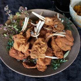 Food & Wine: Lamb Chop Milanese with Sun-Dried Tomato Pesto