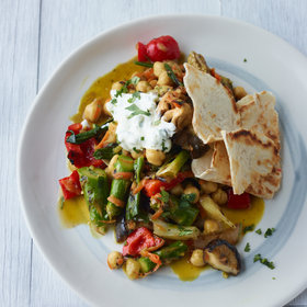 Food & Wine: Curried Vegetables with Griddled Biscuit Roti