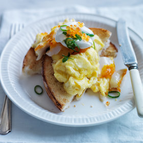 Food & Wine: Soft-Scrambled Eggs with Smoked Sablefish and Trout Roe