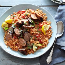 Food & Wine: Tunisian Couscous Salad with Grilled Sausages