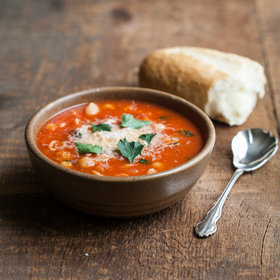 Food & Wine: Tomato Soup with Chickpeas and Pasta