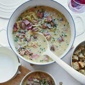 Food & Wine: Creamy Reuben Chowder with Rye Croutons