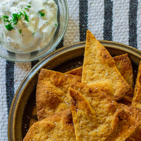 Food & Wine: Baked Naan Chips