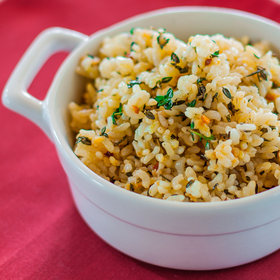Food & Wine: Lemon Brown Rice with Garlic and Thyme