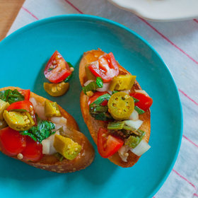 Food & Wine: Bruschetta with Pickled Okra