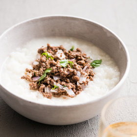 Food & Wine: Garlic Beef and Onion Congee