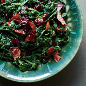 Food & Wine: Sautéed Spinach with Pancetta and Dried Cranberries