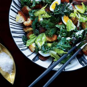 Food & Wine: Kale Caesar with Bacon and Eggs