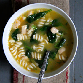 Food & Wine: Baby Spinach Chicken Noodle Soup