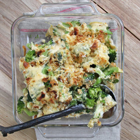 mkgalleryamp; Wine: Broccoli-Cheddar Gratin