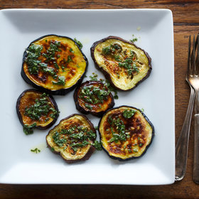 Food & Wine: Broiled Eggplant with Mint Vinaigrette