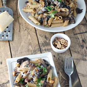 Food & Wine: Brown Butter Mushrooms with Hazelnuts and Whole-Wheat Pasta