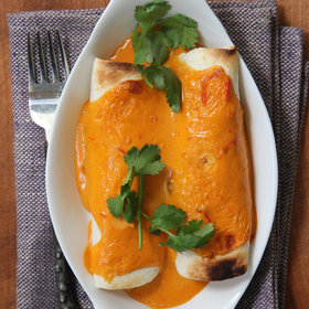 mkgalleryamp; Wine: Cheesy Chicken Enchiladas