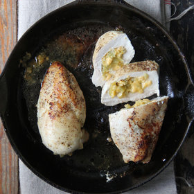 Food & Wine: Cheddar and Hatch Chile Stuffed Chicken Breasts