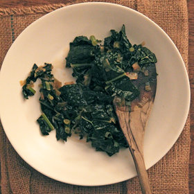 Food & Wine: Cider-Soy Braised Kale