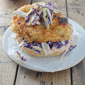 Food & Wine: Crispy Chicken Burger with Coleslaw and Chipotle Mayo