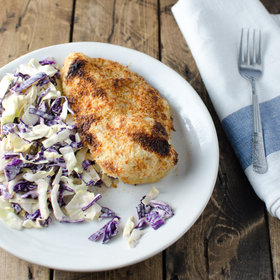 Food & Wine: Crispy Faux Fried Chicken with Crunchy Coleslaw