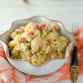 Food & Wine: Curried Macaroni Salad with Chicken and Almonds