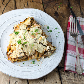 Food & Wine: Easy Mushroom-and-Spinach Lasagna
