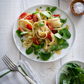 Food & Wine: Fettuccine with Cherry Tomatoes and Watercress