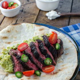 Food & Wine: Flank Steak Burrito with Guacamole and Salsa