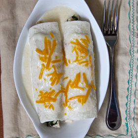 mkgalleryamp; Wine: Hatch Chile Enchiladas