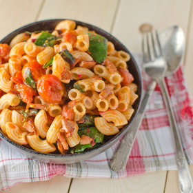 Food & Wine: Macaroni Salad with Chorizo and Roasted Cherry Tomatoes