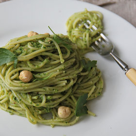 Food & Wine: Parsley-Hazelnut Pesto with Spaghetti