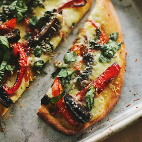 Food & Wine: Portobello-Mushroom and Red-Pepper Pizza