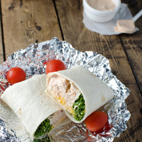 Food & Wine: Quick-and-Easy Rotisserie Chicken Burrito