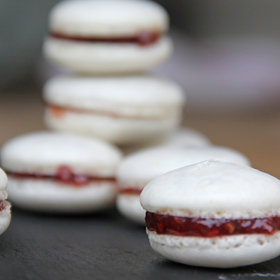 Food & Wine: Raspberry Macarons