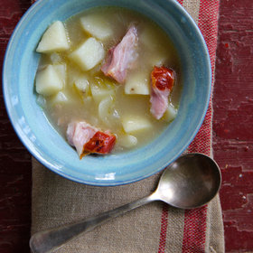 Food & Wine: Slow Cooker Potato and Ham Hock Soup
