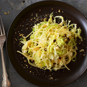 Food & Wine: Spaghetti with Savoy Cabbage, Currants and Brown Butter
