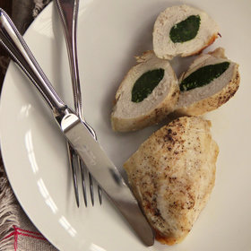 Food & Wine: Garlicky Spinach Stuffed Chicken Breasts